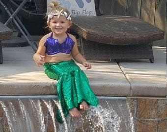"""Toddler """"mermaids"""" sizes 2T-6T! Great for Birthdays and photo shoots! Get a FREE AG sized doll outfit with all orders"""