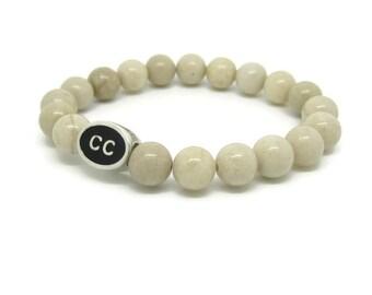 Cape Cod Bracelet, CC, Cape Cod Jewelry, Cape Cod Gifts, Cape Cod Style, White Riverstone