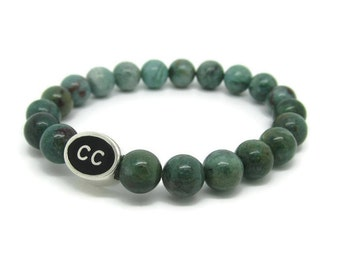 Cape Cod Bracelet, CC, Cape Cod Jewelry, Cape Cod Gifts, Cape Cod Style, Green Quartz