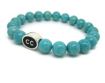 Cape Cod Bracelet, CC, Cape Cod Jewelry, Cape Cod Gifts, Cape Cod Style, Turquoise Riverstone