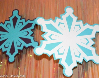 Birthday Decorations - Hanging Paper Snowflakes set of 6