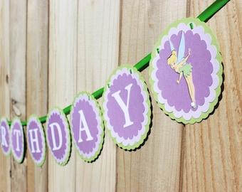 "Fairy ""Happy Birthday"" banner - Tinker Bell"