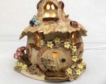 Fairy house lamp, nursery lighting, nightlight.