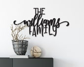 Custom Family Name Sign Wood Word Cutout, Wooden letters, Laser Cut Word, Gallery Wall Decor, Black Home Decor