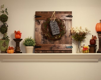 Rustic Barn Door Wall Hanging- Wreath Hanger Wall Decor- Great for all Seasons!