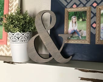 "Ampersand Wooden Cutout, Laser Cut Wood Letter ""&"" Sign, And Sign Wooden Wall Decor, Wood Letter and Numbers Cutout"