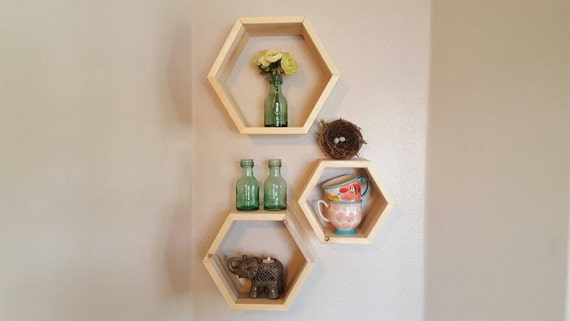 Honeycomb Hexagon Shelf Cubbies Wall Decor Wall Shelf Box Set | Etsy