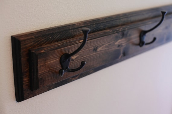 Rustic Wood Coat Rack Hat Hanger Mud Room Organization Etsy Classy Room And Board Coat Rack