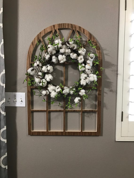 Brown Cathedral Window Frame Wood Window Frame Wreath
