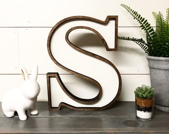 Wooden Marquee Letter Cutout, Laser Cut Wood Letter Sign Wooden Letter Wall Decor, Marquee Style Wood Letter Cutout