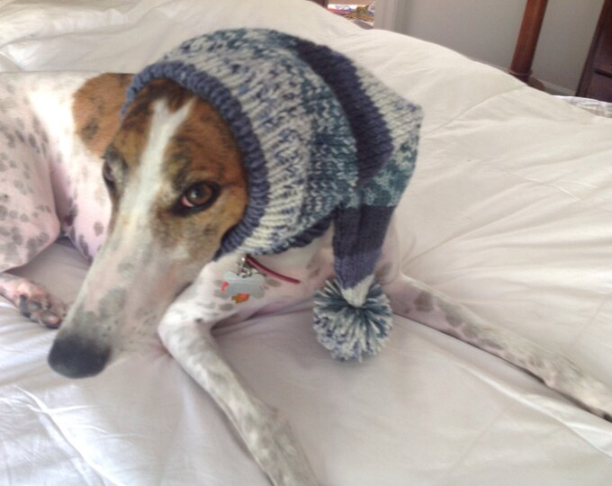 Pointed Hat with Snood for Greyhound or Other Large Sighthound-Alize 4756-Inky Blues