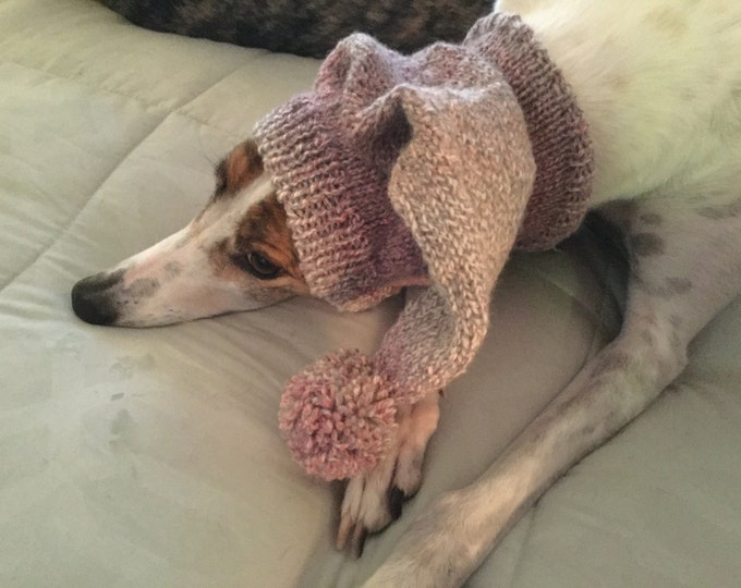 Pointed Hat with Snood for Greyhound -- 7990 Raspberry Drift