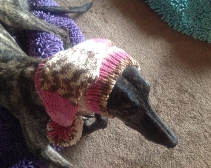 Greyhound Pointed hat with snood -Alize 4757