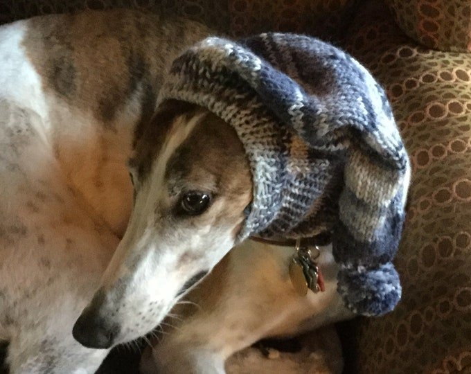 Pointed Hat with Snood for Greyhound --#904 Lauren Blues Magic