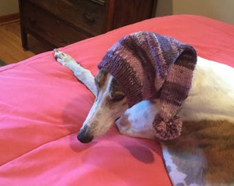 Pointed Hat with Snood for Greyhound - Magic 903 Pink Purple