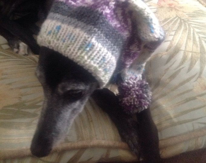 Pointed Hat with Snood for Greyhound or Other Large Sighthound--Alize 1649