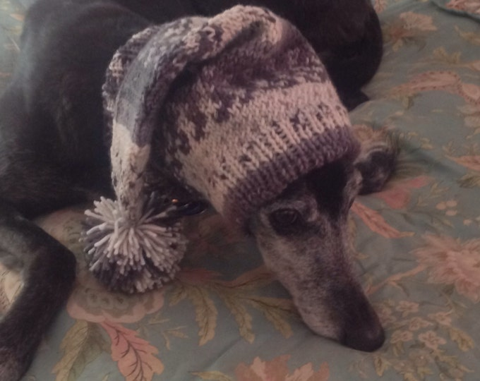 Pointed Hat with Snood for Greyhound -Alize 1949