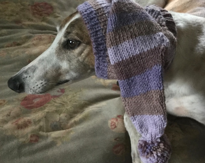 Pointed Hat with Snood for Greyhound --Amethyst