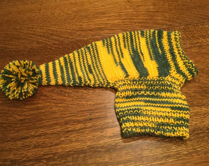 Hat for a Whippet in Pinch Hitter-Green and Gold
