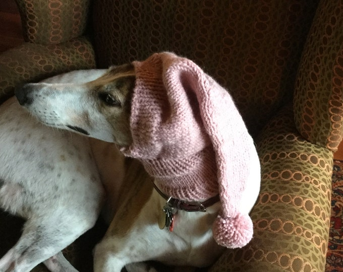 Pointed Hat with Snood for Greyhound --#464 Dusty Rose
