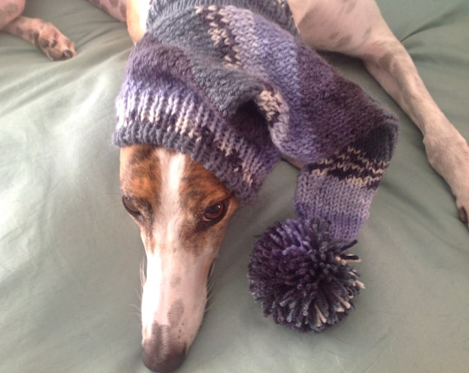 Pointed Hat with Snood for Greyhound--Alize 2989