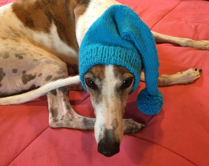 Greyhound hat with snood-235 Miami Aqua