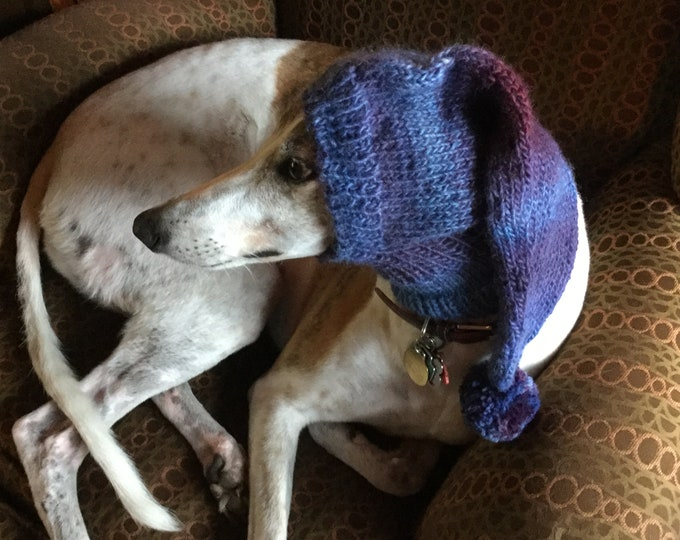 Pointed hat with snood for greyhound -Wild Berries Classic Shades