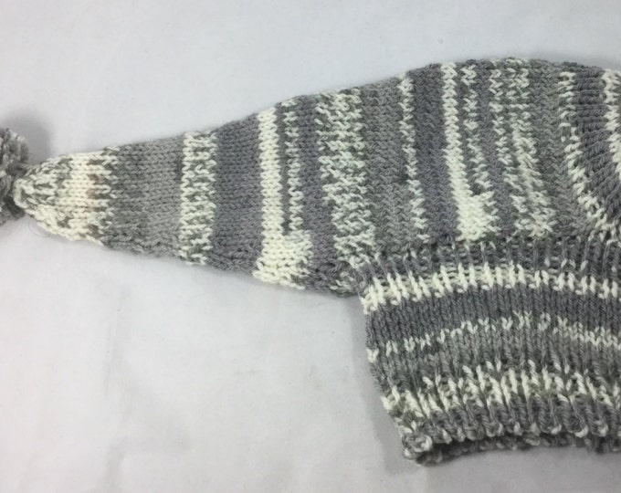 Grey and White Fair Isle Hat for a Whippet. #111