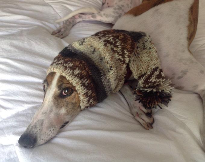 Greyhound hat with snood fair isle-Alize Yarn 3414