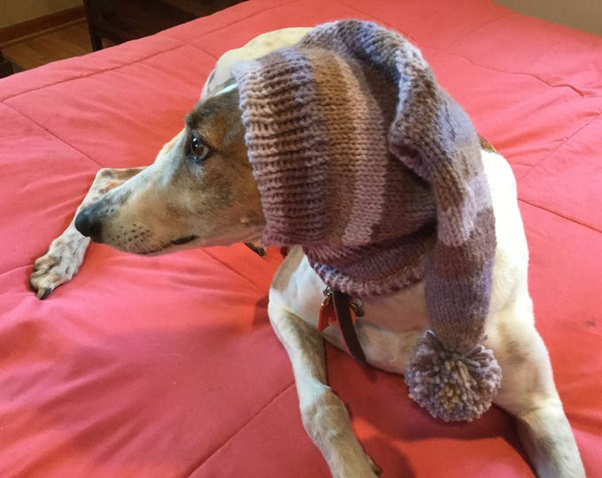 Greyhound hat with snood-7151 Amethyst