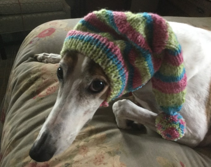 Greyhound pointy hat with Snood--7511 Dark Pastel