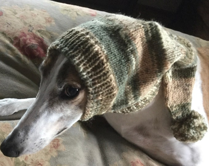 Pointed Hat with Snood for Greyhound - Jungle Magic