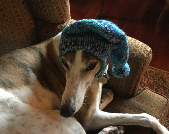 Pointed Hat with Snood for Greyhound - 7518 Jolly Rancher Print