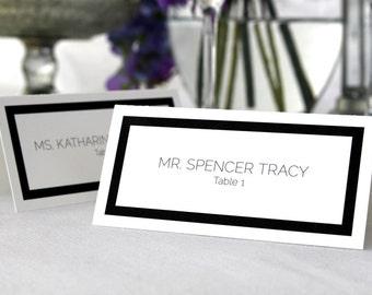 FULL SERVICE Escort Cards Wedding Party Art Deco Simple Elegant Customized