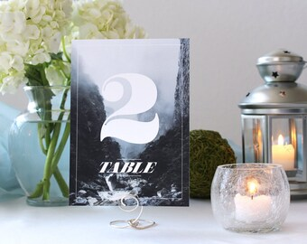 Unique Nature Photo Table Number Scene Romantic Wedding Table Number Hipster