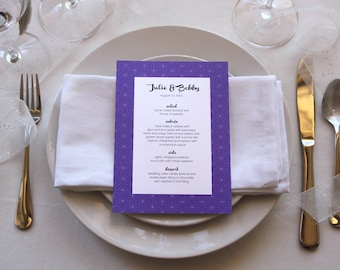 Celestial Romantic Menu Simple Modern Geometric Unique Pretty Wedding