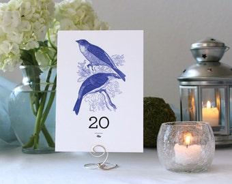 Bird Nature Romantic Pretty Wedding Table Number Marker Tree