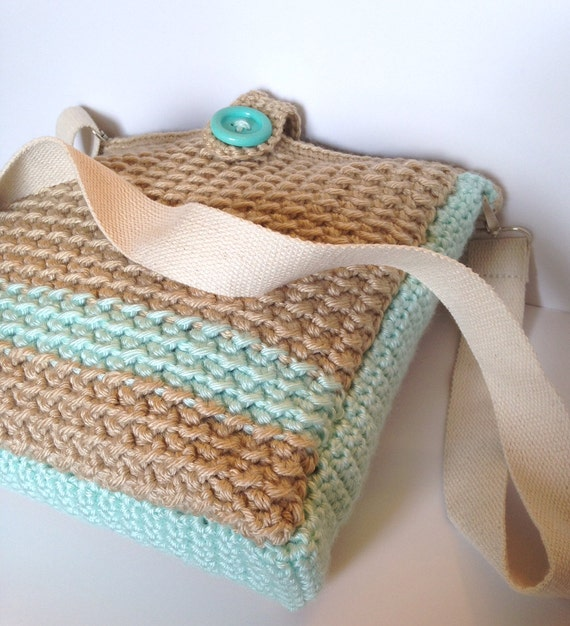 Sandy Shore Messenger Bag Crochet Pattern Etsy