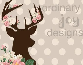 Floral Buck Digital Print