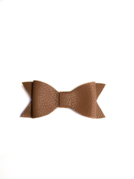 Baby Leather brown bow headband for baby girl infant