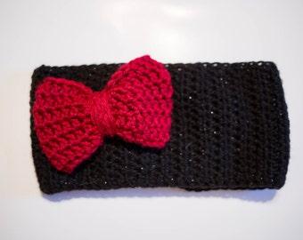 Crochet Headband with Bow