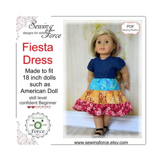 18 Inch Doll Clothes Pattern Dress American Girl Doll Clothes Etsy