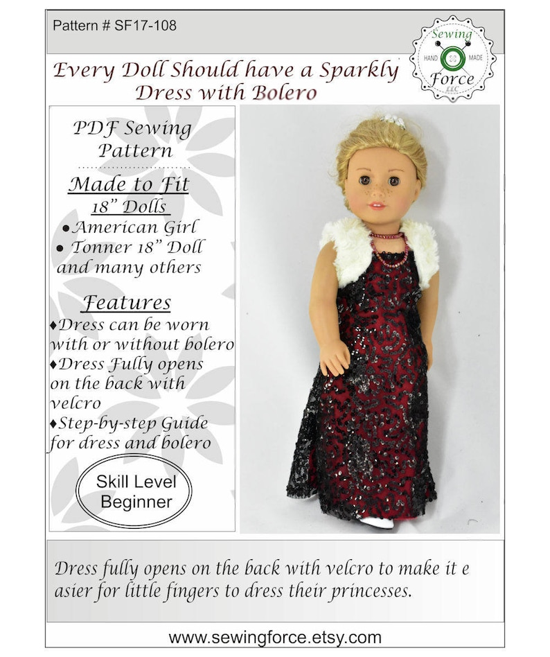 sewing pattern for the Tyler Wentworth doll by Tonner Modern Style