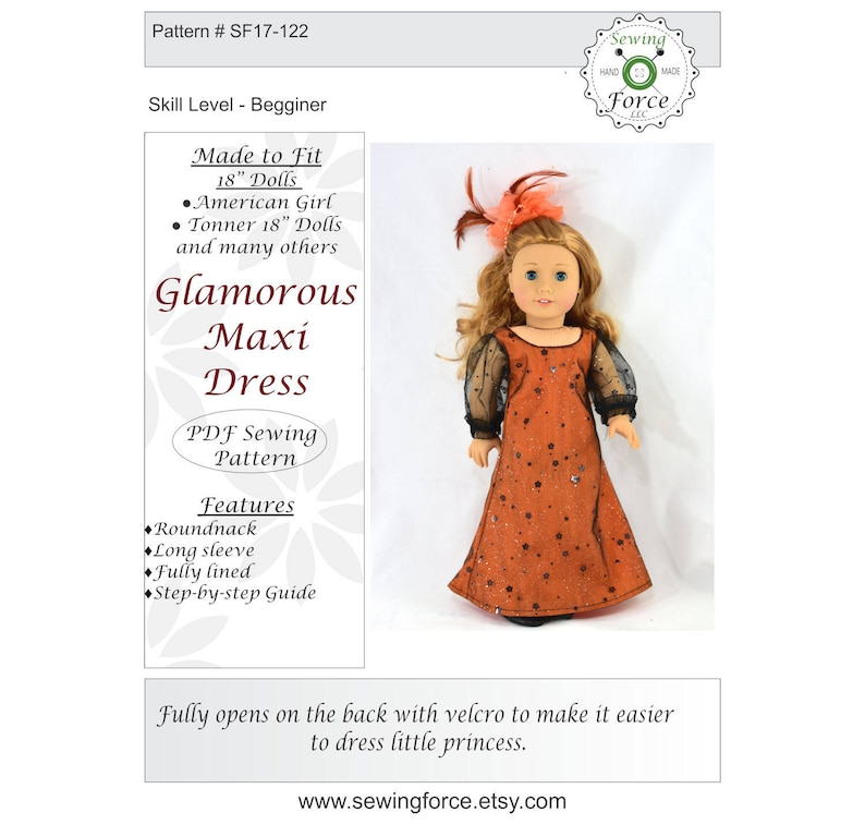 7b6b1db9df5 18 inch doll clothes pattern Are you ready for the Halloween