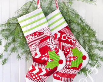 Holly Days: A Christmas Stocking Pattern