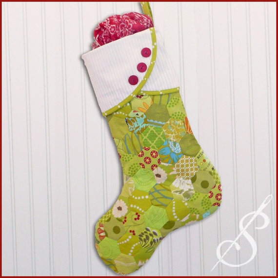 Sew Very Merry A Christmas Stocking Pattern Etsy Stunning Christmas Stocking Sewing Pattern