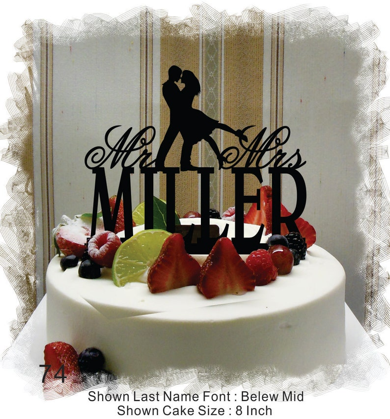 Wedding Cake Topper Cake Topper for Wedding  Customized image 0