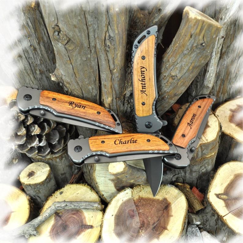 Engraved KnifeEngraved Groomsmen GiftPocket Knife Best Man image 0