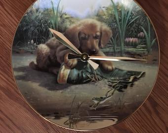 Golden Retriever Puppy Clock !