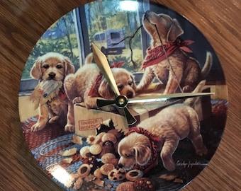 Golden Retriever Puppy Pals Clock !